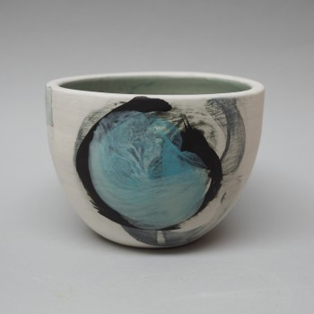 Storm bowl black circle with blue
